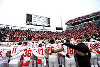 Ohio State celebrates after defeating Michigan State 26-6 at Spartan Stadium in Lansing, Mich., on November 10, 2016. [Samantha Madar/Dispatch]