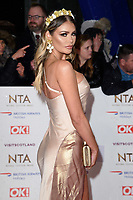 LONDON, UK. January 22, 2019: Chloe Simms at the National TV Awards 2019 at the O2 Arena, London.<br /> Picture: Steve Vas/Featureflash