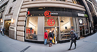 A RadioShack store in New York on Friday, February 6, 2015.   RadioShack is reported to be in talks to sell half its stores to Sprint and close the rest in a bankruptcy deal. The Sprint stores would be co-branded with RadioShack. (© Richard B. Levine)