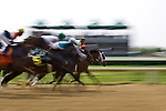 The start of a horse race at Churchill Downs in Louisville, Kentucky, home to the Kentucky Derby.