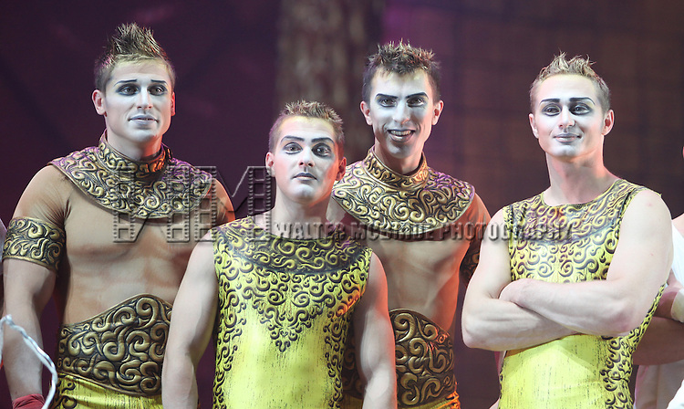 Ensemble Cast Members.during the Cirque Du Soleil 'Zarkana' Rehearsal at Radio City in New York City.