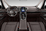 Stock photo of straight dashboard view of 2015 Renault Espace Intens 5 Door Minivan Dashboard