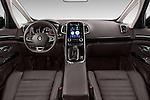 Stock photo of straight dashboard view of 2015 Renault Espace Intens 5 Door Minivan Dashboard