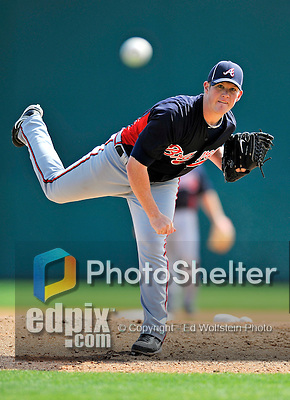 4 March 2011: Atlanta Braves pitcher Craig Kimbrel in action during a Spring Training game against the Washington Nationals at Space Coast Stadium in Viera, Florida. The Braves defeated the Nationals 6-4 in Grapefruit League action. Mandatory Credit: Ed Wolfstein Photo