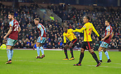 9th December 2017, Turf Moor, Burnley, England; EPL Premier League football, Burnley versus Watford; Abdoulaye Doucoure of Watford shoots on goal but it goes wide
