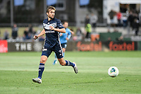 17th November 2019; Jubilee Oval, Sydney, New South Wales, Australia; A League Football, Sydney Football Club versus Melbourne Victory; Jakob Poulsen of Melbourne Victory looks for outlet options