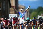 Arnaud Demare (FRA) FDJ wins Stage 2 of the Criterium du Dauphine 2017, running 171km from Saint-Chamond to Arlanc, France. 5th June 2017. <br /> Picture: ASO/A.Broadway | Cyclefile<br /> <br /> <br /> All photos usage must carry mandatory copyright credit (&copy; Cyclefile | ASO/A.Broadway)