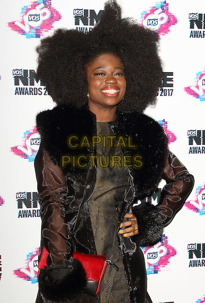 Clara Amfo at The VO5 NME Awards 2017 at the O2 Academy, Brixton, London on February 15th 2017<br /> CAP/ROS<br /> &copy;Steve Ross/Capital Pictures