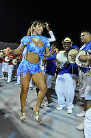 SÃO PAULO, SP, 04 DE FEVEREIRO DE 2012 - ENSAIO PÉROLA NEGRA - Panicat Jaque Khury durante ensaio técnico da Escola de Samba Pérola Negra na preparação para o Carnaval 2012. O ensaio foi realizado neste sabado (04) no Sambódromo do Anhembi, zona norte da cidade. FOTO: LEVI BIANCO - NEWS FREE