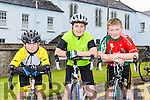 Enjoying the Castleisland Day Care Centre Charity Cycle conjunction with Currow Cycling Club on Sunday were l-r  Jack Breen, Paddy Hoare and Niall Murphy.