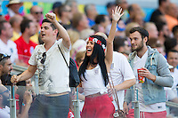 England fans party in the stands