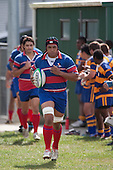 Gary Saifoloi leads the Ardmore Marist Premier team out for the first game of the season. Counties Manukau Premier Counties Power Cup club rugby game between Patumahoe & Ardmore Marist played at Patumahoe Domain on Saturday March 28th, 2009..Patumahoe won 54 - 15 after leading 28 - 3 at halftime.