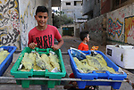 Palestinian vendors display salted fish at a market ahead of the Eid al-Fitr holiday in Gaza city on May 30, 2019. Eid al-Fitr marks the end of Muslim's holy fasting month of Ramadan when faithfuls abstain from eating, drinking, smoking and sexual activities from dawn to dusk. Photo by Mahmoud Naser