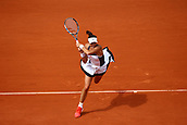 4th June 2017, Roland Garros, Paris, France; French Open tennis championships;   GARBINE MUGURUZA (ESP)  during day seven match of the 2017 French Open on June 4, 2017, at Stade Roland-Garros in Paris, France.