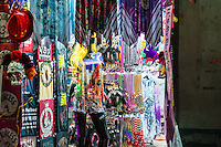 Nothing say Bourbon Street in New Orleans like beads and they sell them everywhere.  We capture this shot of all the different beads in this shop from the street along with many other things that say represent mardigraw party that goes on here daily.
