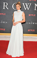 Vanessa Kirby at the &quot;The Crown&quot; TV premiere, Odeon Leicester Square cinema, Leicester Square, London, England, UK, on Tuesday 01 November 2016. <br /> CAP/CAN<br /> &copy;CAN/Capital Pictures /MediaPunch ***NORTH AND SOUTH AMERICAS ONLY***