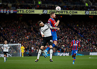 5th January 2020; Selhurst Park, London, England; English FA Cup Football, Crystal Palace versus Derby County; Scott Malone of Derby County Connor Wickham of Crystal Palace - Strictly Editorial Use Only. No use with unauthorized audio, video, data, fixture lists, club/league logos or 'live' services. Online in-match use limited to 120 images, no video emulation. No use in betting, games or single club/league/player publications