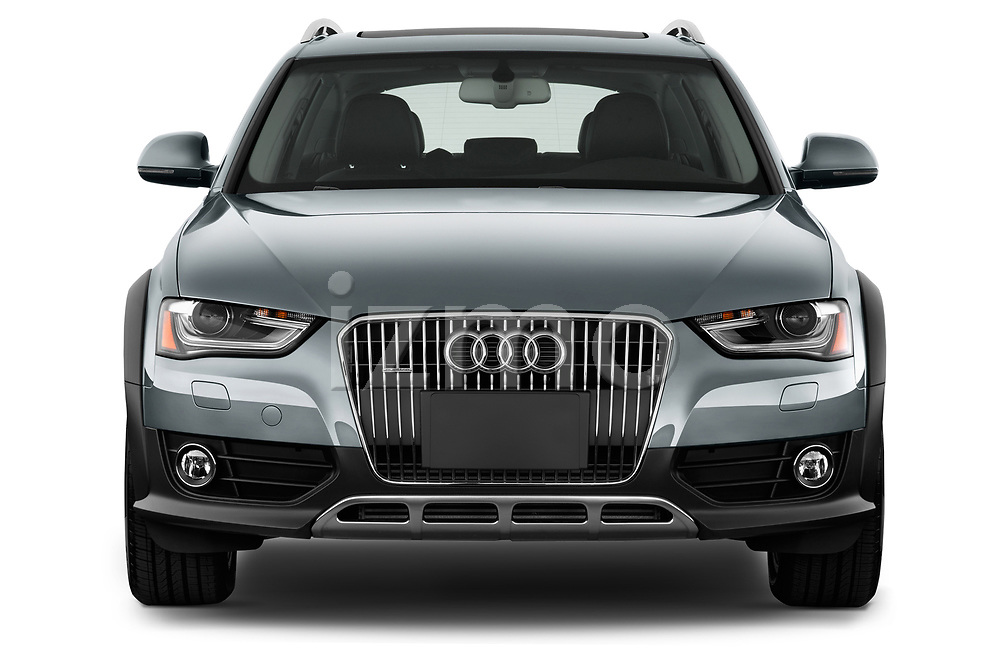 Car photography straight front view of a 2013-2016 Audi A4 Allroad Premium Quattro 4 Door Wagon