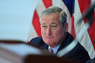 Washington, DC - June 21, 2016: Philadelphia Mayor Jim Kenney attends a news conference about the 2016 Democratic National Convention at the National Press Club in the District of Columbia, June 21, 2016. Philadelphia is the host city for the convention.  (Photo by Don Baxter/Media Images International)