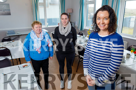 Staff at the Ballyheigue Community Centre on Tuesday.<br /> Front Joanne Leen.<br /> Back l to r: Theresa Burkett and Caroline Casey.