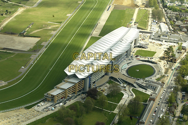 ASCOT RACECOURSE.Aerial view of the newly refurbished Ascot Racecourse, England, taken May 5th 2006..gerneral view gv air.Ref: FIN.www.capitalpictures.com.sales@capitalpictures.com.©Steve Finn/Capital Pictures.