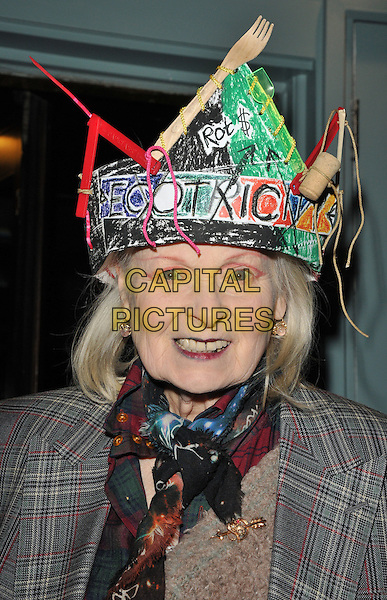 Dame Vivienne Westwood at the Vivienne Westwood x BFC LFW (Men's) a/w 2017 party, Quo Vadis, Dean Street, London, England, UK, on Thursday 05 January 2017. <br /> CAP/CAN<br /> &copy;CAN/Capital Pictures