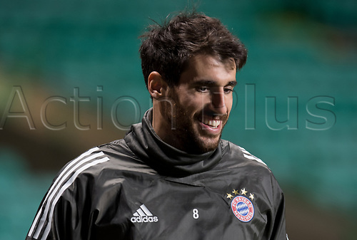 30th October 2017; Glasgow, Scotland;  Javi Martinez of FC Bayern Munich can be seen during a final training session at Celtic Park in Glasgow, Scotland, 30 October 2017. Munich will meet Celtic Glasgow in a Champions League group phase match on the 31 October 2017.