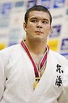 Wolf Aaron, September 14, 2014 - Judo : All Japan Junior Judo Championships Men's -100kg victory ceremony at Saitama Prefectural Budokan, Saitama, Japan. (Photo by Yusuke Nakanishi/AFLO SPORT) [1090]