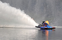 Jul. 19, 2009; Augusta, GA, USA; IHBA top fuel hydro driver Scotty Lumbert races during the Augusta Southern Nationals on the Savannah River. Mandatory Credit: Mark J. Rebilas-