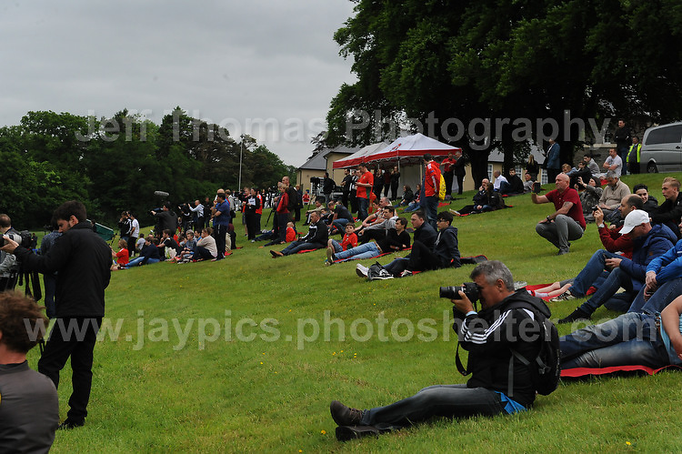 There's quite a crowd who came to watch the Welsh squad train during the Wales Open Training Session on Wednesday 1st June 2016 at the Vale Resort, in the Vale of Glamorgan. <br /> <br /> <br /> Jeff Thomas Photography -  www.jaypics.photoshelter.com - <br /> e-mail swansea1001@hotmail.co.uk -<br /> Mob: 07837 386244 -