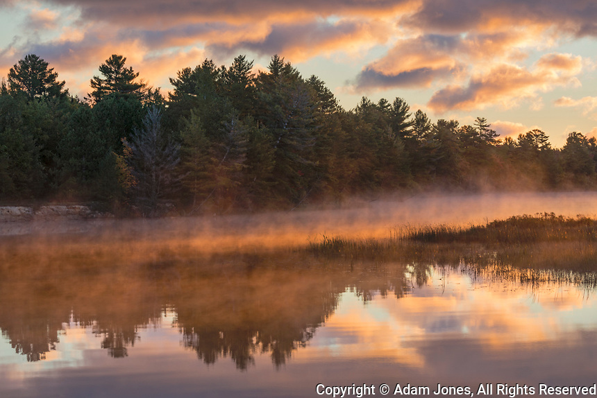 Tahquamenon River at sunrise, near Paradise, Michigan, Upper Peninsula of Michigan.