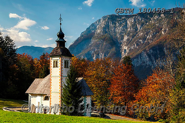Tom Mackie, LANDSCAPES, LANDSCHAFTEN, PAISAJES, photos,+Europa, Europe, European, Lake Bohinj, Slovenia, Tom Mackie, autumn, autumnal, church, churches, color, colorful, colour, col+ourful, destination, destinations, dramatic outdoors, fall, horizontal, horizontals, landscape, landscapes, mood, moody, moun+tain, mountainous, mountains, scenery, scenic, tourist attraction, travel,Europa, Europe, European, Lake Bohinj, Slovenia, To+m Mackie, autumn, autumnal, church, churches, color, colorful, colour, colourful, destination, destinations, dramatic outdoor+,GBTM180458-1,#l#, EVERYDAY