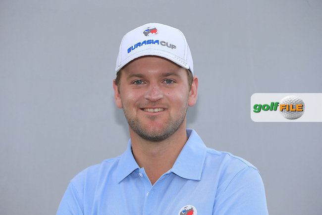 Bernd Wiesberger (AUT) European Team before Pro-Am Day of the 2016 Eurasia Cup held at the Glenmarie Golf &amp; Country Club, Kuala Lumpur, Malaysia. 14th January 2016.<br /> Picture: Eoin Clarke | Golffile<br /> <br /> <br /> <br /> All photos usage must carry mandatory copyright credit (&copy; Golffile | Eoin Clarke)
