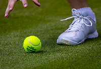 London, England, 3 July, 2019, Tennis,  Wimbledon, Ballboy grabbing ba<br /> Photo: Henk Koster/tennisimages.com