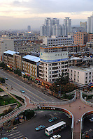 "Down town Kunming, capital of Yunnan Province, west China. Kunming's city center has been spruced up as part of China's ""go west"" campaign, aimed at increasing investment in the remote western regions of China. .."