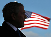 New York, NY - November 11, 2008 -- United States President President George W. Bush delivers remarks at a Veteran's Day rededication ceremony of the Intrepid Sea, Air and Space Museum in New York City on Tuesday, November 11, 2008. <br /> Credit: John Angelillo - Pool via CNP