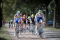 Frederik Backaert (BEL/Wanty - Gobert) and team Sport Vlaanderen Baloise rider riding a gravel/cobbles section.<br /> <br /> 23th Memorial Rik Van Steenbergen 2019<br /> One Day Race: Beerse > Arendonk 208km (UCI 1.1)<br /> ©kramon