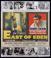 BNPS.co.uk (01202 558833)<br /> Pic: Burstow&amp;Hewett/BNPS<br /> <br /> East of Eden starring James Dean and a set of 8 Lobby Cards.<br /> <br /> A late film buff's collection of 400 vintage movie posters has emerged for auction and is tipped to sell for &pound;15,000.<br /> <br /> The collection was amassed by a man who worked for several decades at the Marble Arch Odeon cinema in London which in its heyday was one of the capital's flagship cinemas.<br /> <br /> He sadly died a couple of years ago but bestowed the posters - which once were on display in the cinema - to a life-long friend who has decided to put them on the market.<br /> <br /> Many of the posters are from classic film franchises including Star Wars and James Bond as well as iconic Disney films such as Snow White and the Seven Dwarfs and Cinderella.