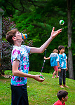 HARWINTON , CT-080620JS05—Jake Suursemi, 13 of Harwinton, works on his juggling skills during the Thrive Movement Studio's circus camp Thursday at their studio in Harwinton. <br />  Jim Shannon Republican-American
