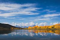 Oxbow Bend at sunrise, Snake River, Grand Teton NP,Wyoming, USA