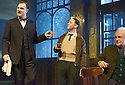 Hangmen by Martin McDonagh, directed by Matthew Dunster. With David Morrissey as Harry, Reece Shearsmith as Syd, Simon Rouse as Arthur. Opens at The Royal Court Jerwood Theatre Downstairs on 18/9/15. CREDIT Geraint Lewis
