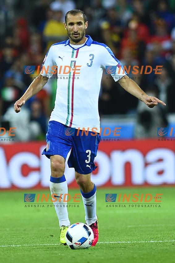 Giorgio Chiellini Italy <br /> Lyon 13-06-2016 Grand Stade de Lyon Football Euro2016 Belgium-Italy / Belgio-Italia Group Stage Group E. Foto Massimo Insabato / Insidefoto