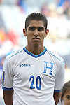 13 July 2015: Jorge Claros (HON). The Haiti Men's National Team played the Honduras Men's National Team at Sporting Park in Kansas City, Kansas in a 2015 CONCACAF Gold Cup Group A match. Haiti won the game 1-0.