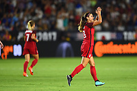 Carson, CA - Thursday August 03, 2017: Alex Morgan during a 2017 Tournament of Nations match between the women's national teams of the United States (USA) and Japan (JPN) at the StubHub Center.