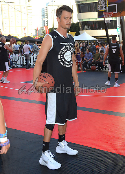 07 August 2015 - Los Angeles, California - Josh Duhamel. The 7th Annual Nike Basketball 3on3 Tournament presents ESPNLA All-Star Celebrity Basketball Game held at L.A. Live Microsoft Square. Photo Credit: Birdie Thompson/AdMedia