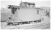 RGS caboose #0400 at Ridgway, CO.<br /> RGS  Ridgway, CO  Taken by Richardson, Robert W. - 6/18/1950