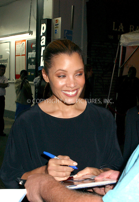Michael Michele signs autographs as she arrives at the opening of GQ Launge in New York, September 4, 2002. Please byline: Alecsey Boldeskul/NY Photo Press.   ..*PAY-PER-USE*      ....NY Photo Press:  ..phone (646) 267-6913;   ..e-mail: info@nyphotopress.com
