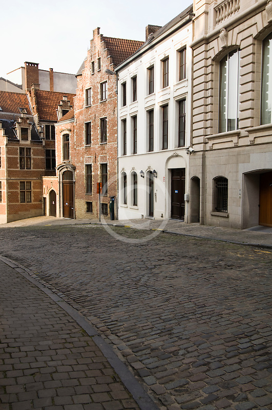 Belgium, Brussels, Street scene, Wildewoudstraat