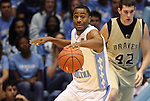 08 November 2008: North Carolina's Wayne Ellington. The University of North Carolina Tarheels defeated the University of North Carolina at Pembroke Braves 102-62 at the Dean E. Smith Center in Chapel Hill, NC in an NCAA exhibition basketball game.