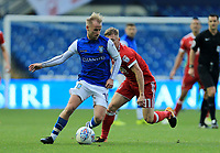 Barry Bannan of Sheffield Wednesday wins the ball against Ben Osborn of Nottingham Forest during the Sky Bet Championship match between Sheffield Wednesday and Nottingham Forest at Hillsborough, Sheffield, England on 9 September 2017. Photo by Leila Coker / PRiME Media Images.